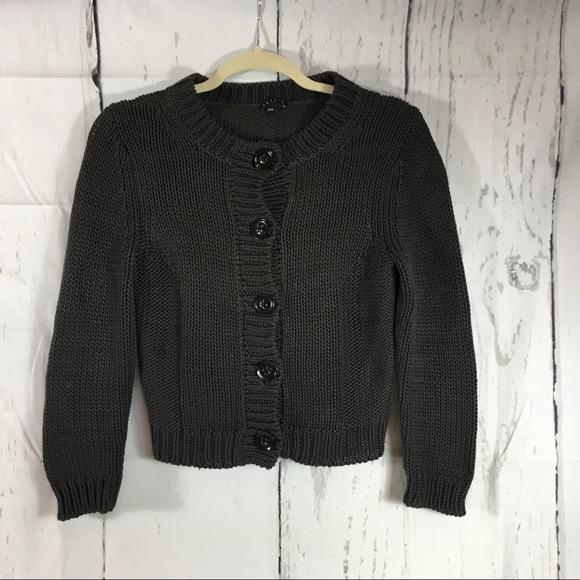 ddd1dc3f988 Theory Gray Chunky Knit Button Up Cardigan. M 5a90ec0d46aa7ce7b8794721